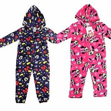 DISNEY MICKEY/ MINNIE MOUSE ONESIE ONESEY PYJAMAS ALL IN ONE HOODED FOOTLESS