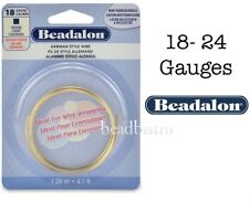 Beadalon (NON-TARNISH BRASS) German Style SQUARE Wire Wrapping - 5 Sizes