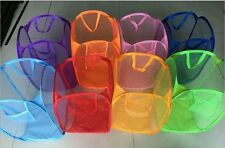 Foldable Portable Washing Clothes Laundry Basket Bag Bin Hamper Mesh Storage