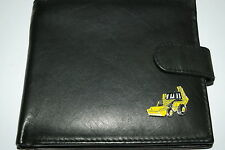 JCB Digger Wallets.Leather NEW - Black/Dark Brown/Chestnut. Gift Idea! Yellow