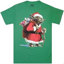 Star Wars: 'Yoda Santa Claus' Christmas Exclusive T-Shirt {Size: S-L} LIMITED!