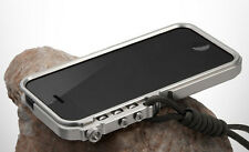 Luxury Style Aluminum Metal Button Hard Cleave Frame Bumper Case For iPhone 5 5S