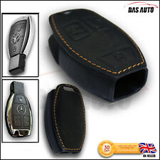 Premium Leather Case Cover for MERCEDES Car Key Fob Holder amg m b c e s class a