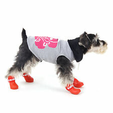 Cute Dog Shoes Puppy Rain Boot Waterproof Pet Rubber Shoes Booties Candy Color