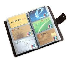 Unisex real Leather Business Case Wallet ID Credit Card Holder Purse for 90 Card