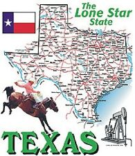 TEXAS, State Map T-Shirt (30122)