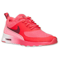 Nike Women Air Max Thea Premium Geranium/ Team Red- Silver-White 616723-600