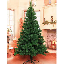 Christmas Tree 5/6/7/7.5/7.9FT Steel Base Decorate Ornament Xmas GREEN NATURAL