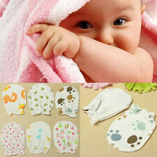 Newborn Baby Boy Girl Infant Anti-scratch Cotton Soft Mittens Gloves Handguard