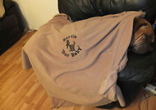 Personalised Giant & XL Tailor Made Fleece Dog Blanket- Many Breeds Catered For