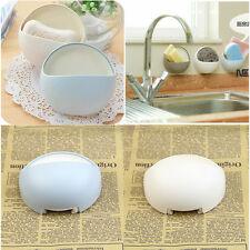 Strong Wall Suction Soap Tray Holder Dish Box Case Storage Shower Wash Bathroom