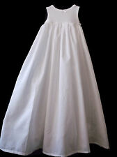 BABY CHRISTENING GOWN PETTICOAT WHITE UNDERSKRIT all lengths