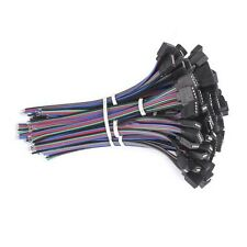 Wholesale 4PIN Female Male RGB Connectors Wire Cable For 3528 5050 SMD LED Strip