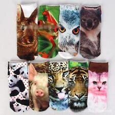 Men Women Low Cut Ankle Hot Cartoon 3D Printed Animals Floral Socks 18 Colors