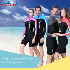 Men's Woman Rash guard diving suits snorkeling surfing Lycra swimming Jumpsuits