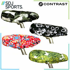 CONTRAST WATERPROOF BIKE SADDLE CYCLE SEAT COVER IN A CHOICE OF GREAT DESIGNS