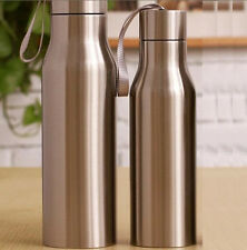 070117 Silver Stainless Steel Travel Insulated Vacuum Flask Thermos Water Bottle