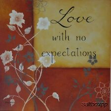 """KL1942 Love With No Expectations Lewis 12""""x12"""" framed or unframed art print"""