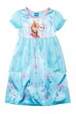 NEW Disney Frozen Fantasy Girl Blue Nightgown, Pajama-Size 6, 6/7-Orig $38