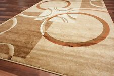 Circle Square Area Rug Abstract Beige Brown Ivory Contemporary Room Size New Rug