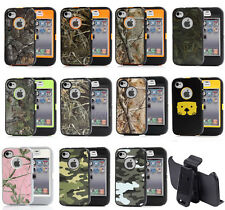 Waterproof ShockProof Dirt Proof Case Cover W/ Belt Clip For Apple iPhone 4 4S