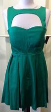 Modcloth Ixia Sweetheart Open-Front and Open-Back Green Dress