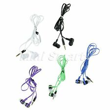 Multi-color Universal 3.5mm In-Ear Earphone Headphone Earbud Headset Flat Cable