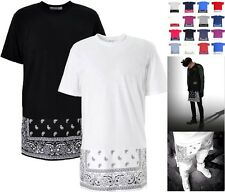 Oversized Paisley Print Bandana Celebrity  Long T Shirt Kanye Dope SWAG Kids
