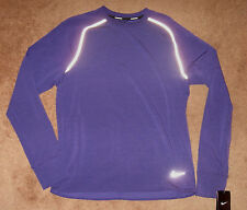 Nike Dri-FIT Sprint Crew Mens LS Running Shirt  598973 547 Court Purple S  L