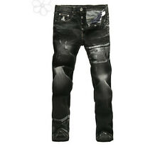 2014 mastermind japan embroidery skull and crossbones men's jean H276