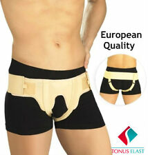 Elastic medical belt for inguinal hernia treatment, double-sided with removable