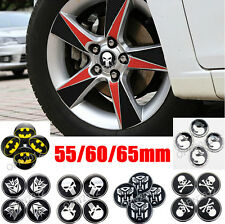 4pcs Car Tyre Wheel Center Cover Stickers Hub Cap Punisher Batman Transformers