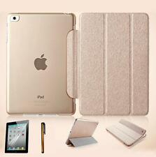 Slim Magnetic Leather Smart Cover For Apple iPad Air w/Hard Back Case Smart Wake