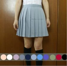 Japanese School Girls Sailor Uniforms Solid Pleated College Cosplay Mini Skirts