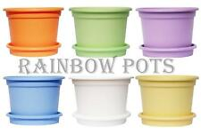 Decorative Colour Plastic Plant Pot Flower Pots Planters & Saucer Tray Wedding