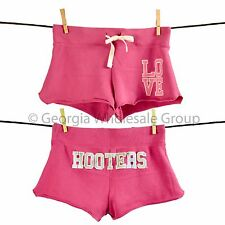 Hooters Apparel Womens Hooters Love Short Shorts Pink (S-XL) Jrs