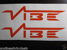 Two VIBE Vinyl Decal Sticker  *Available in 23 Colors*  x2 car audio