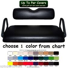 E-Z-GO TXT MARINE GRADE VINYL CUSTOM GOLF CART SEAT COVER SET - STAPLE ON