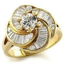 14K GOLD EP 5.9CT DIAMOND SIMULATED ENGAGEMENT RING Size 5 - 10 you choose