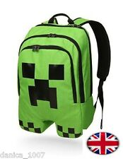 Minecraft School Backpack Waterproof Book Bag Creeper Storage ideal Xmas Gift