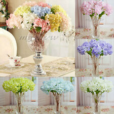 Artificial Craft Hydrangea Bouquet Home Wedding Fake Bridal Silk Flowers NEW
