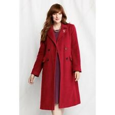 NWT Lands' End Women's Plus  Luxe Wool Double Breasted Coat  16W -  26W  Garnet