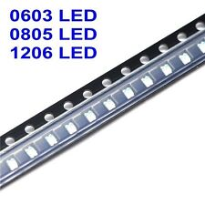 20PCS-100PCS SMT SMD 0603 0805 1206 LED Chip White Red Blue Green Orange Yellow