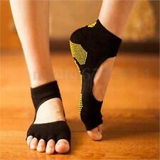 2Pair Fashion Sports Massage Fitness Non-Slip Half Toe Yoga Pilates 5-Toe Socks