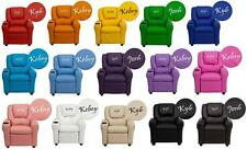 PERSONALIZED Children's CONTEMPORARY VINYL RECLINER with Cup Holder & Headrest