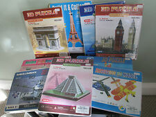 3D PUZZLES OF LANDMARKS (& TRANSPORT)EDUCATION WITH CREATION! NEW IN PACKET.