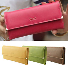 Women's New Fashion Clutch Matte Leather Wallet Card Purse Handbag Candy