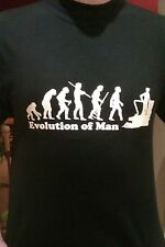 EVOLUTION OF MAN TSHIRT, ALL SIZES, canal, canal boat, narrow boats for sale