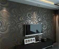 3d Wallpaper Mural Roll 0.7m*8.4m Papel De Parede Flocking For Striped Wallpaper