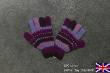 100% Wool Glove Mittens Hand-kintted in Nepal